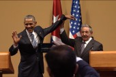 Cuba press conference ends on awkward note