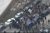 Hundreds of protesters take to Brooklyn...