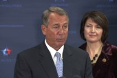 Boehner walks away from shutdown question