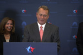 Boehner laughs at birthday Medicare question