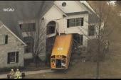 School bus rams into house near Philadelphia