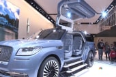 Checking out cool cars at NY auto show