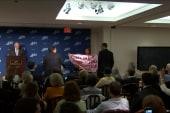 Protester interrupts Cheney speech
