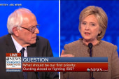 Clinton and Sanders spar over Middle East...