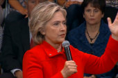 Clinton: Kids 'are picking up loaded guns'