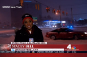 WNBC crew has a close-call with sliding car