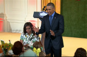 First lady hosts 'state dinner' for kid chefs
