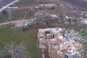 Drone captures tornado devastation in IL