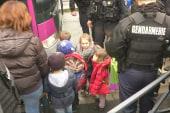 Children evacuated in Dammartin-en-Goële