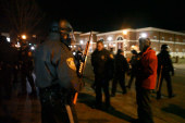 Police clash with protesters in Ferguson