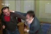 Ukraine politicians suspended over fist fight