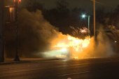 Police cruiser torched in Ferguson, MO