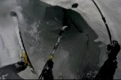 Crevasse swallows skier in Swiss Alps