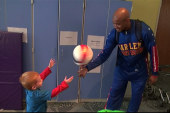 Globetrotter brings smiles to WV hospital