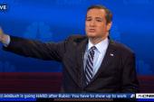 GOP candidates attack media in debate