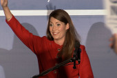 Alison Lundergan Grimes gives victory speech