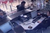 Does video show Paris suspect at airport?