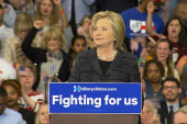 Clinton jabs GOP candidates during OH remarks