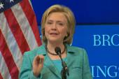Hillary emphasizes Iran deal support