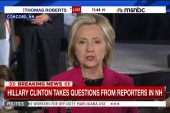 Clinton holds first press conference in NH