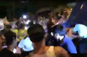 Raw video: Protesters, police clash in...
