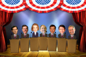GOP candidates fight for debate stage