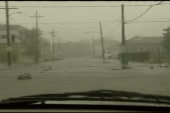 Watching Katrina through a car windshield