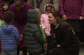 Princess Kate greets kids in Harlem