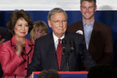 Mitch McConnell gives victory speech