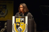 Michelle Obama gives advice on hardship