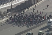 Protesters block major highway near...