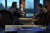 Mom calls into C-SPAN to scold pundit sons