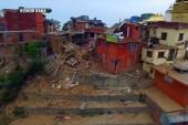 Drone captures devastation in Nepal