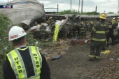 NTSB releases footage of derailment aftermath