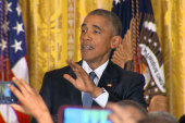 Obama to heckler: 'You're in my house'