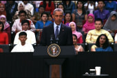 Obama holds a town hall in Malaysia
