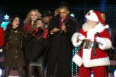 Obama busts a move at tree lighting ceremony
