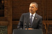 Obama speaks at DNC fundraiser in NYC