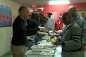 The Obamas serve meals at DC homeless center