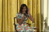 Little girl asks Michelle Obama about her age