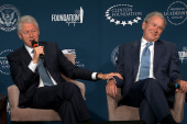 Clinton and Bush: A bromance for the ages
