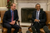 Prince William jokes with Obama about WH...