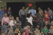 How a man got punched at Trump rally