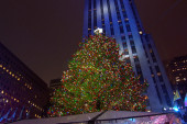 The 2015 Rock Center Christmas Tree lights...