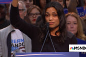Rosario Dawson campaigns for Bernie Sanders