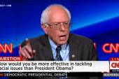 How will Sanders tackle racism?