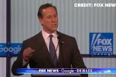 Santorum criticizes GOP debate setup