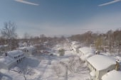 Drone captures aftermath of epic snowstorm