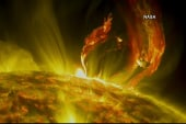 NASA captures stunning solar eruption footage