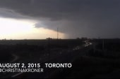 Camera captures time-lapse of huge storm